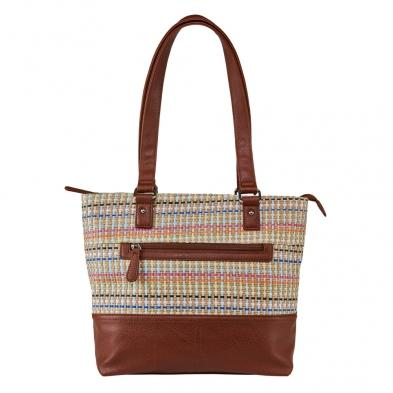 Woven Tote - Brown