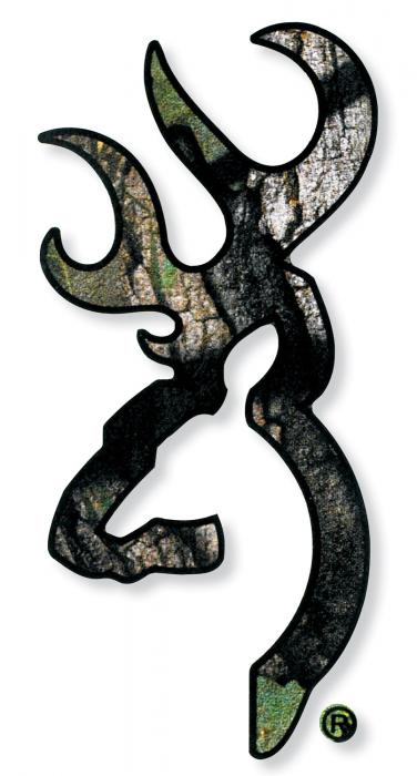 BRN 3922002916 Buckmark Decal 6IN Camo