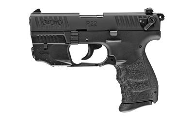 "Wal P22q 22lr 3.4"" Blk W/laser"