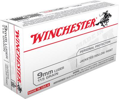 Winchester Ammo USA 9mm Jacketed Hollow