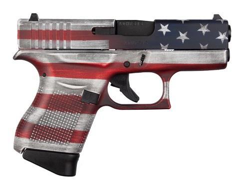 Glock 43 USA 9mm Cerakote Flag
