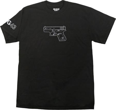 Glock Aa46100 G43 Tshirt S BLK