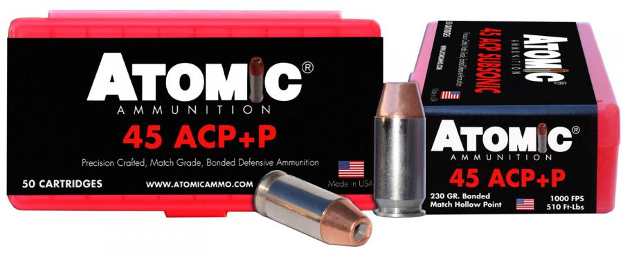 Atomic 00433 45acp+p 230 Bonded Match