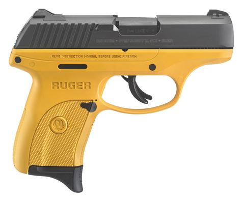 Ruger Lc9s 9mm Blk/yellow 7+1rd