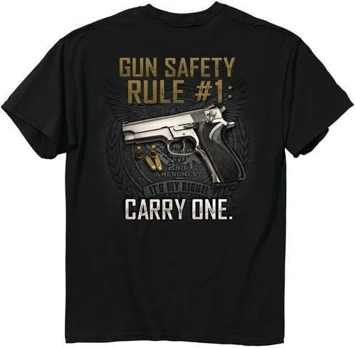"Buck Wear T-shirt ""gun Safety"