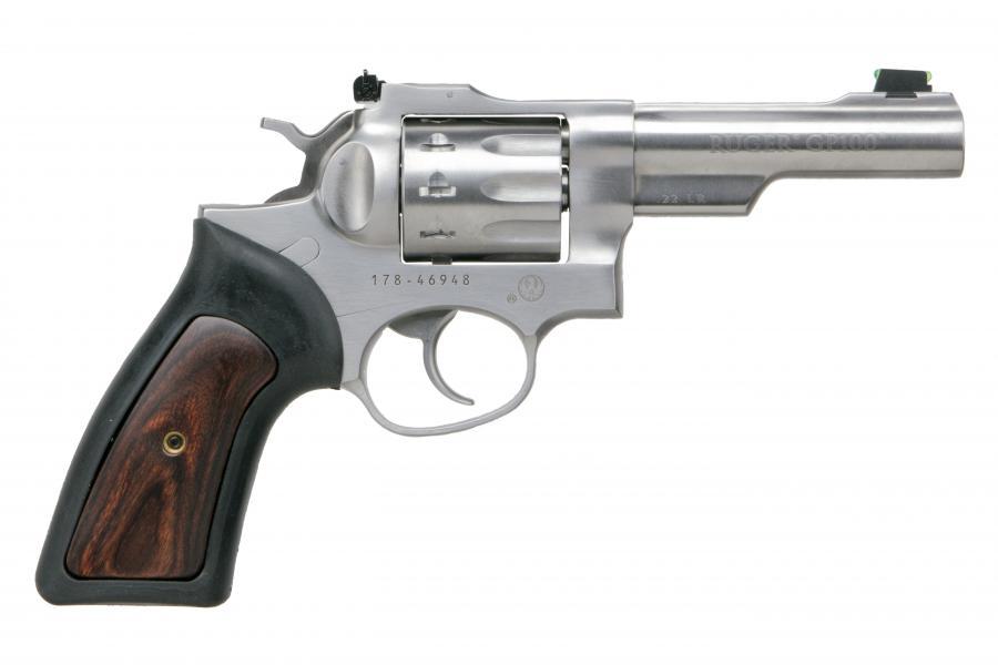 """Ruger Gp100 22lr 10-shot 4"""" SS"""