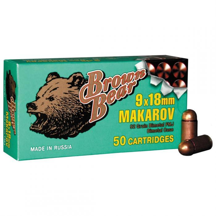Brown Bear 9mm Makarov 94gr FMJ