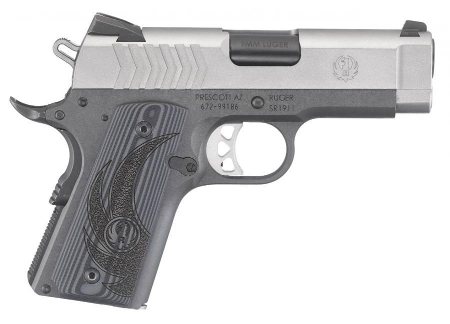 """Ruger Sr1911 Ofc 9mm 3.6"""" Dt"""