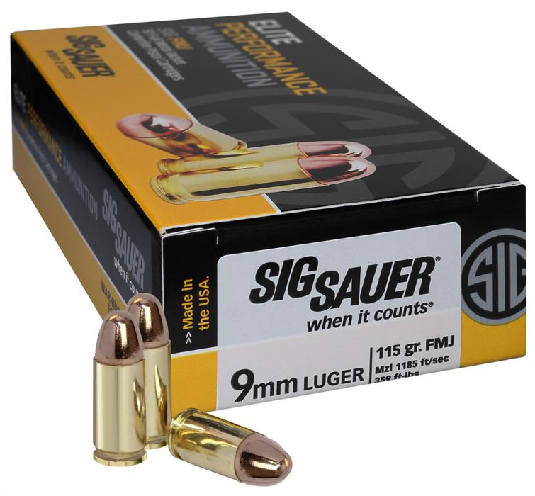 Sig 9mm 115gr 50ct/box