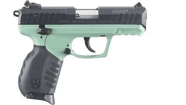 "Ruger Sr22p-tb Turquiose 22lr 3.4"" 10rd"
