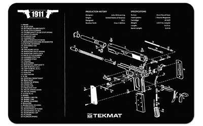 Beck Tek Pistol Mat 1911 Blk