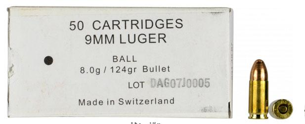 366841000 Ball Swiss P 9mm Luger