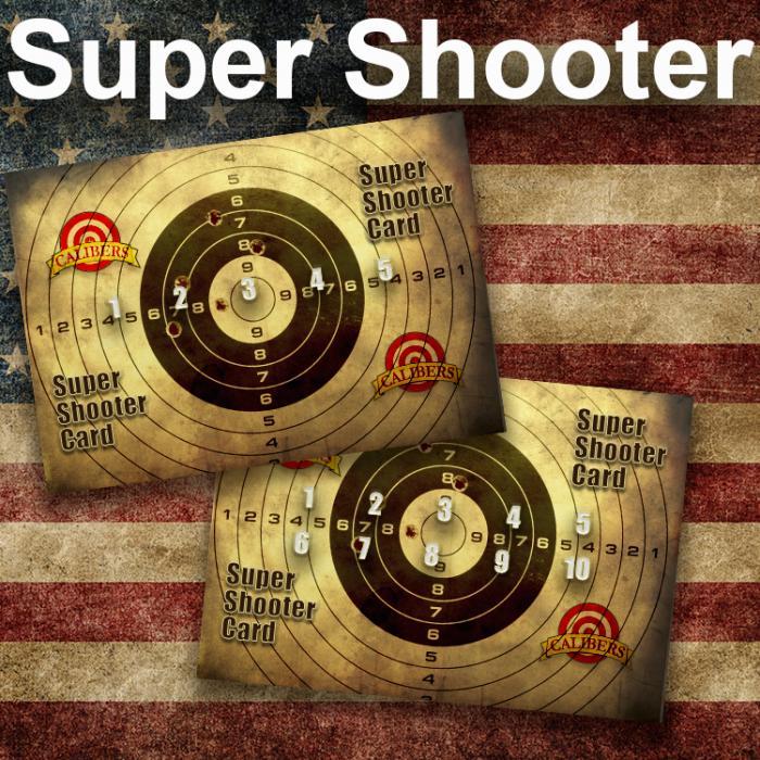 Calibers 5 Visit Super Shooter Card