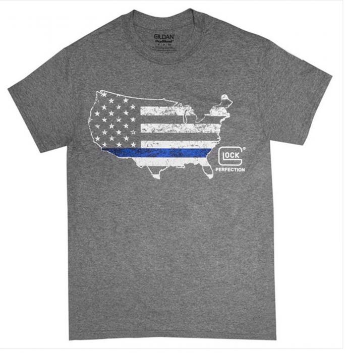 Glock SM Grey Blue Line Shirt