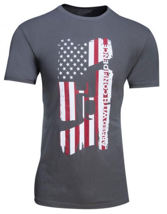 Glock MED Grey Confidence Flag Tshirt