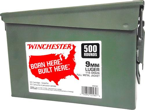 Win Ammo 9mm Luger (case Of