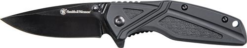 "S&w Knife Black Rubber 3"" Blk"