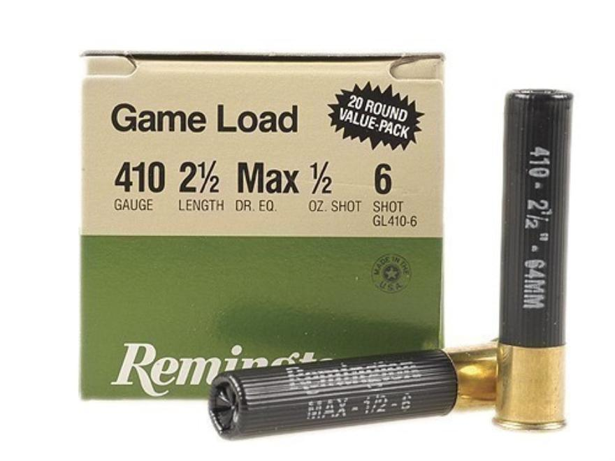 "Remington Game Loads 410ga 2.5"" 1200fps"
