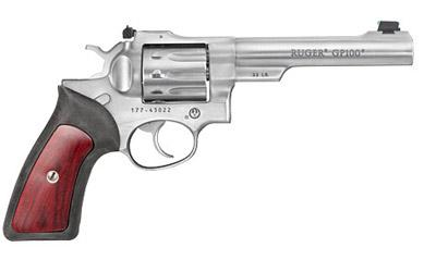 "Ruger Gp100 22lr 5.5"" Stainless 10rd"