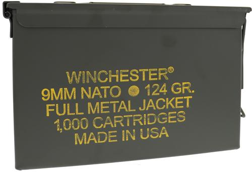 Win Ammo Nato 9mm Luger 124gr.