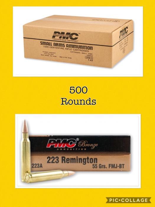 PMC 223a 55gr Fmj-bt 1000rds 50