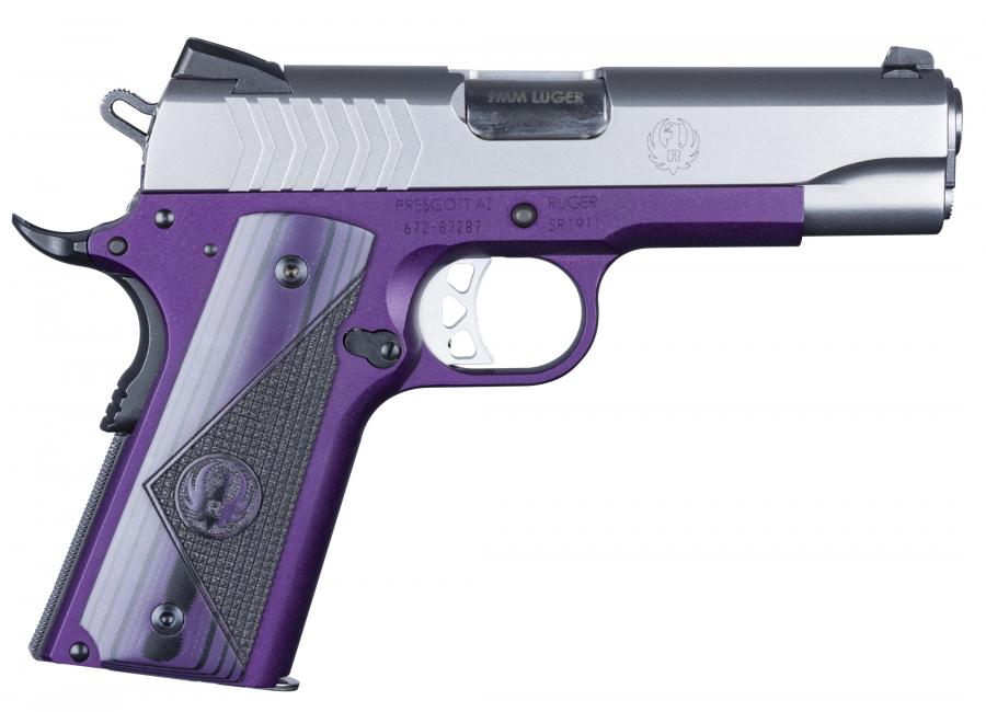 Rug Sr1911-cmd-lw 9mm Pst Purp