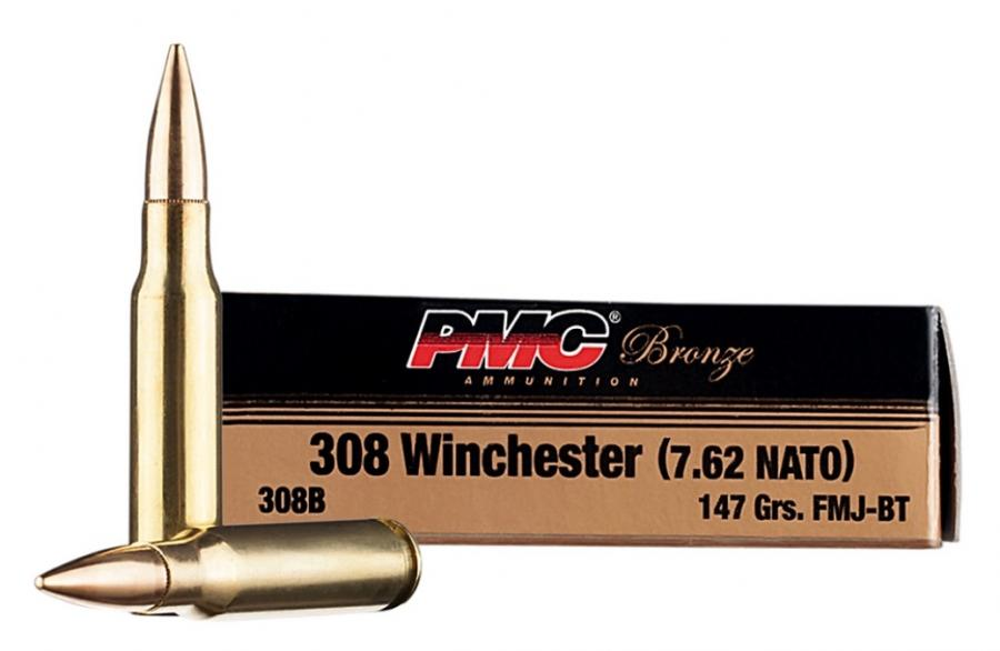 PMC 308win/7.62nato 147gr Fmj-bt 500rounds