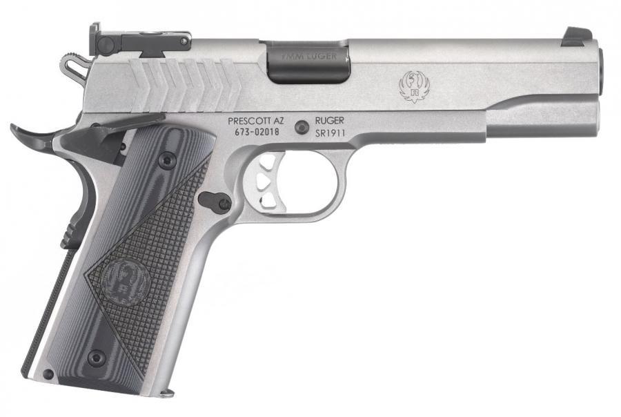 """Ruger Sr1911 Tgt 9mm 5"""" Sts"""