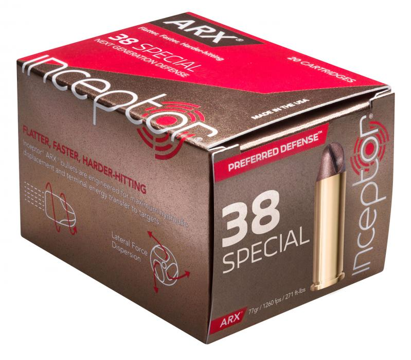 Inceptor 38arxbrs920 Preferred Defense 38 Special