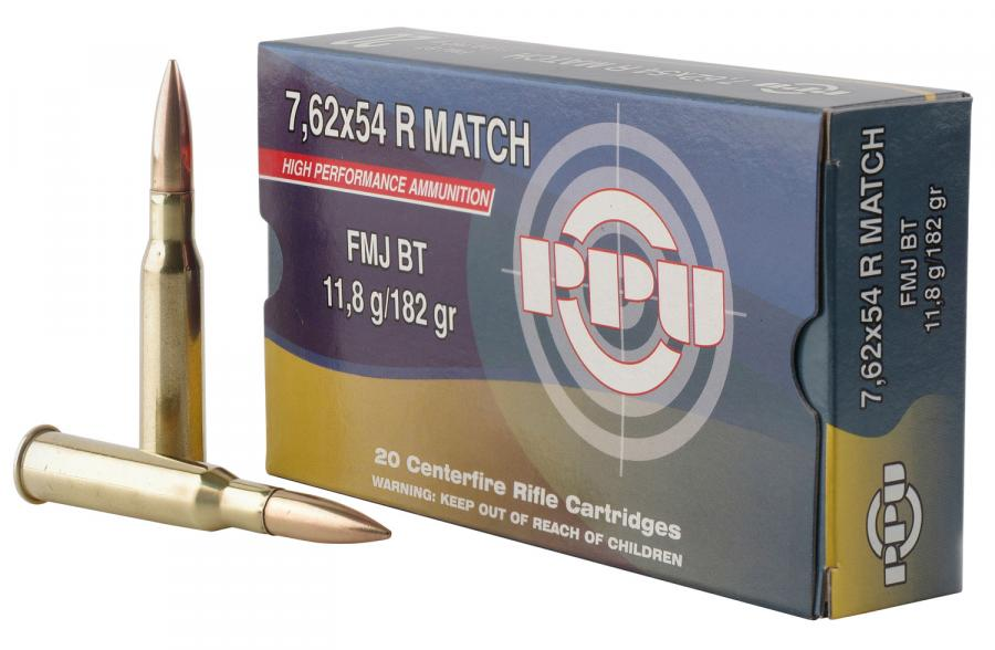 PPU Ppm7 Match 7.62x54mmr 182 GR