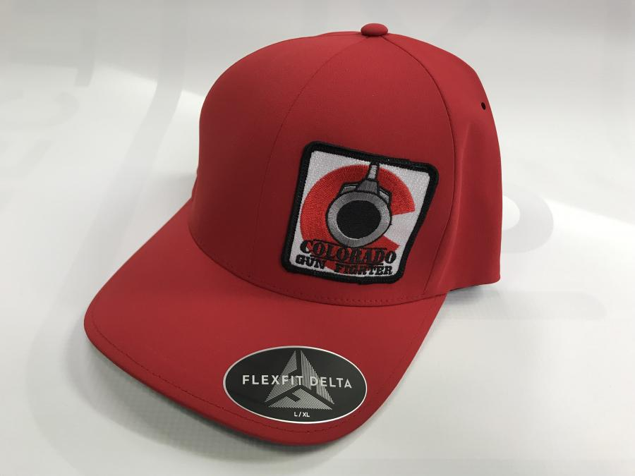 CGF Hat Red Flexfit L/xl