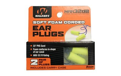 Walkers 2pk Yel Crded Plug W/case