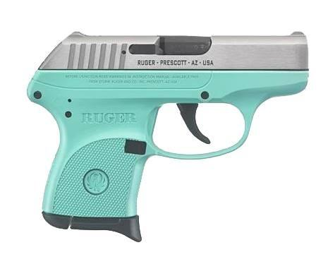 Ruger LCP 380acp 6rd x1 Turquiose/stainless