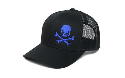 Phu Skull Trucker Hat Blk/blu