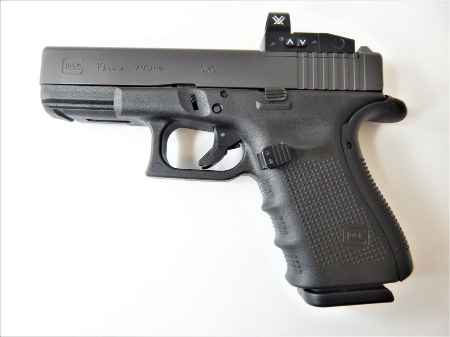 "Glock/glock Inc 19gen4mos 9x19 4"" 15rd"