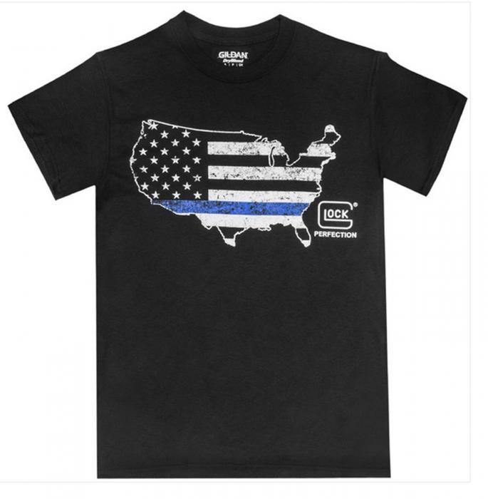 Glock Ap95165 Blue Line Shirt Black