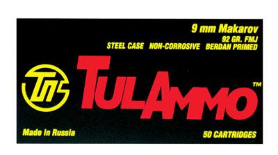 Tulammo Ta918092 Tulammo 9mmx18mm Makarov Full