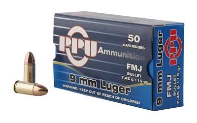 Ppu 9mm 115gr Fmj