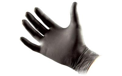 Nar Gloves Black Nitrile Med
