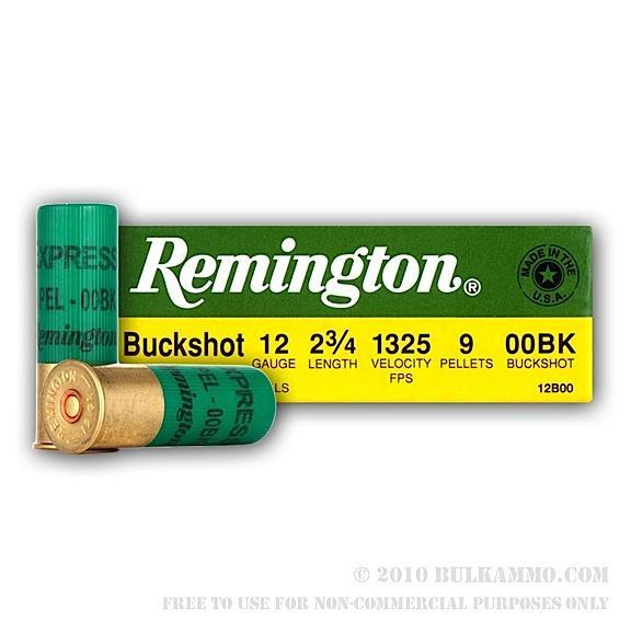 "Rem12b00a 12ga 00 Buck 25bx/10cs 2.75"""