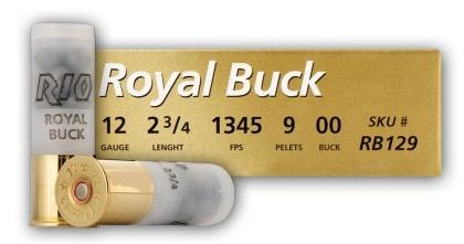 "Rio Royal Buck 12ga 2.75"" 1345fps"
