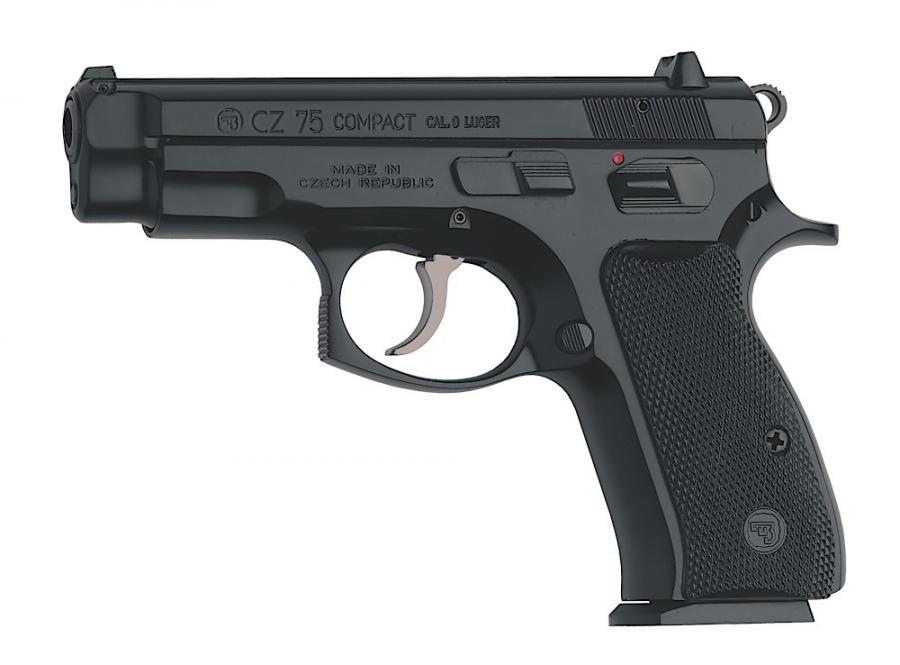 "CZ Cz-75 Compact 9mm 3.9"" 15+1"