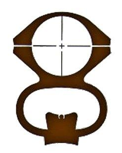 Ironsighter See-thru Mounts For Remington 742,760