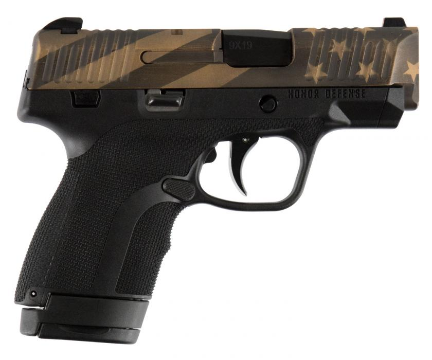 HD Hg9scflgblk Subcompact 9MM Flag Black