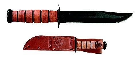 Kabar Straight Edge Knife W/leather Sheath