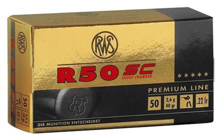 RWS R50 Short Case 22lr 50rd