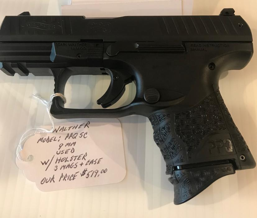 Used Walther PPQ SC 9mm With   East Coast Ammo, Inc