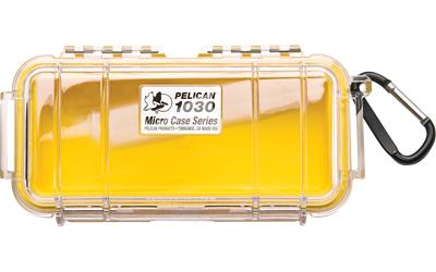 Pelican 1030 Micro Case Yellow/clear