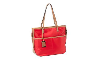 Bulldog Tote Nylon Purse Bright Red