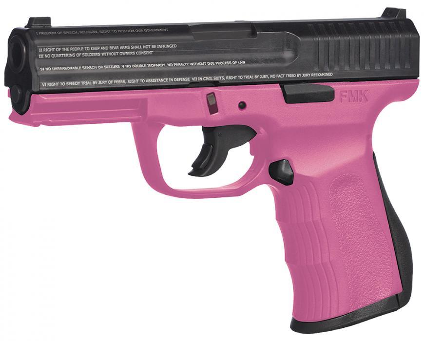 """FMK 9mm 4"""" 10rd DAO Pink"""